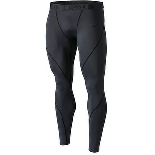 Tesla MUP19 Cool Dry Contour-Stitching Compression Pants - Charcoal/Black