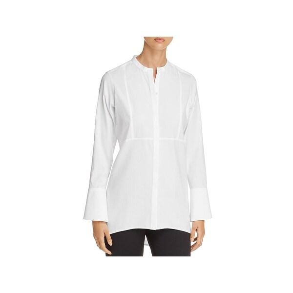 Foxcroft Womens Tunic Top Non-Iron Long Sleeves