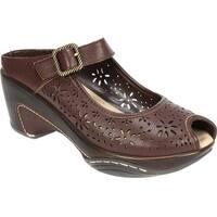 White Mountain Women's Miso Dark Brown Leather