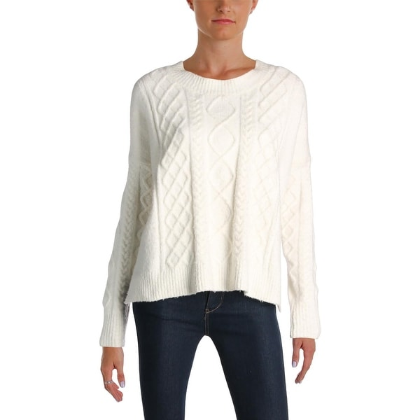 0087121ad10 French Connection Womens Pullover Sweater Felted Cable Knit Long Sleeves