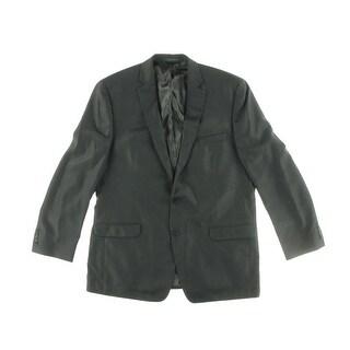 Calvin Klein Mens Herringbone Notch Collar Two-Button Suit Jacket - 38R