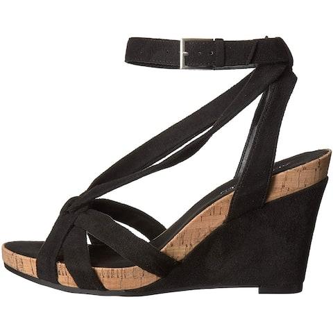 Aerosoles Women's Shoes Fashion Plush Fabric Open Toe Casual Strappy Sandals