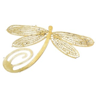 Unique Bargains Metal Dragonfly Shaped Book Page Marker Bookmark Gold Tone for Readers