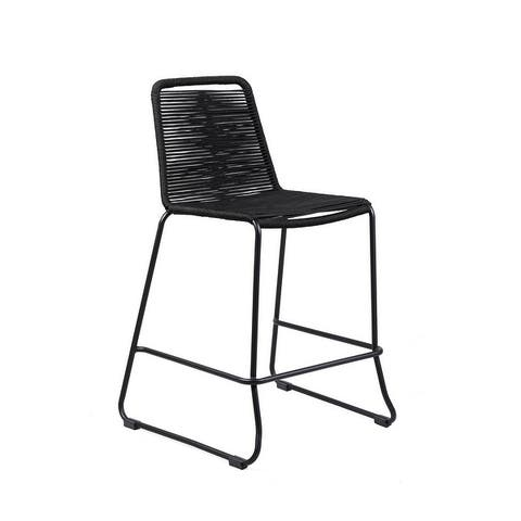 Shasta Outdoor Metal and Rope 30-inch Patio Bar Stool