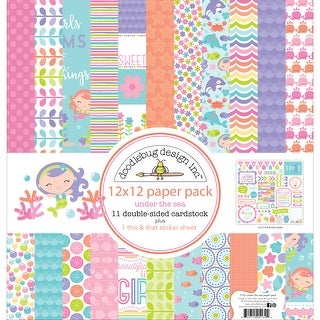 """Doodlebug Double-Sided Paper Pack 12""""X12"""" 11/Pkg-Under The Sea"""