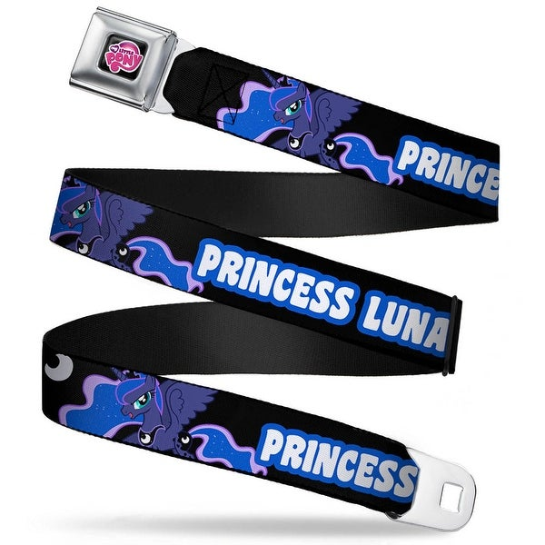 My Little Pony Logo Full Color Black Pink Princess Luna Black Cobalt White Seatbelt Belt