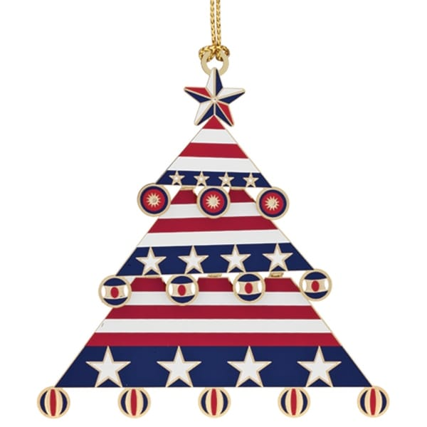 "3.25"" Red, White and Blue Patriotic Americana Christmas Tree Ornament - Shop 3.25"" Red, White And Blue Patriotic Americana Christmas Tree"