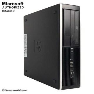 HP Elite 8300 Desktop Computer SFF Intel Core I5 3570 3.4G 4GB DDR3 500GB Windows 10 Home 1 Year Warranty (Refurbished) - Black