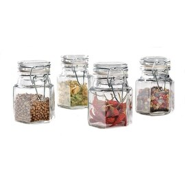 Palais Glassware 'Epices' Collection, High Quality Glass, Spice Canisters, Set of 4