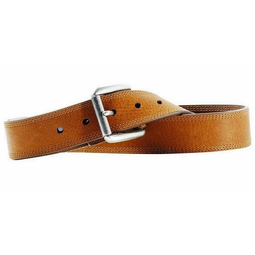 Ariat Western Belt Mens Work Triple Stitch Brown Sunshine