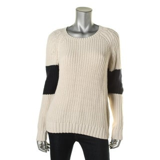 360 Sweater Womens Colorblock Crew Neck Pullover Sweater - M