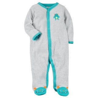Carter's Baby Boys' Snap-Up Monster Cotton Sleep & Play