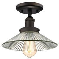 """Westinghouse 6336100 LEXINGTON 1-Light 9-7/8"""" Wide Semi-Flush Ceiling Fixture with Clear Glass Shade - Oil Rubbed bronze - n/a"""
