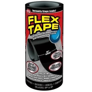 "Flex Seal TFSBLKR0805 Waterproof Repair Tape, Black, 8"" x 5'"