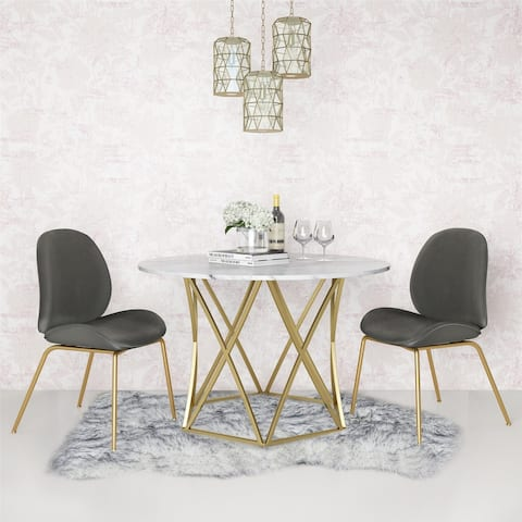 CosmoLiving by Cosmopolitan Elle Round Dining Table