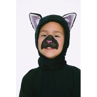 Black Cat Kitten Hood & Nose Animal Costume Set Child Standard