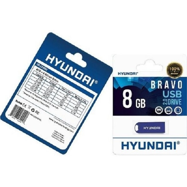 Hyundai Technology MHYU2BK8GPK 8GB Bravo USB 2.0 Flash Drive