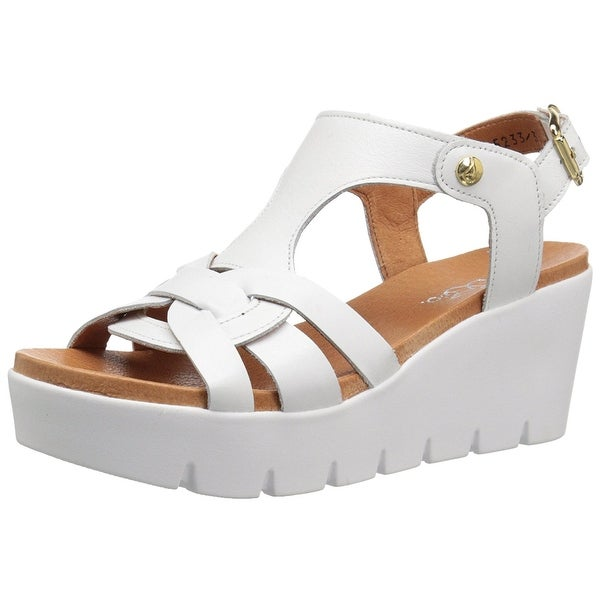 Bos. & Co. Womens petra Leather Open Toe Casual Platform Sandals - 9.5