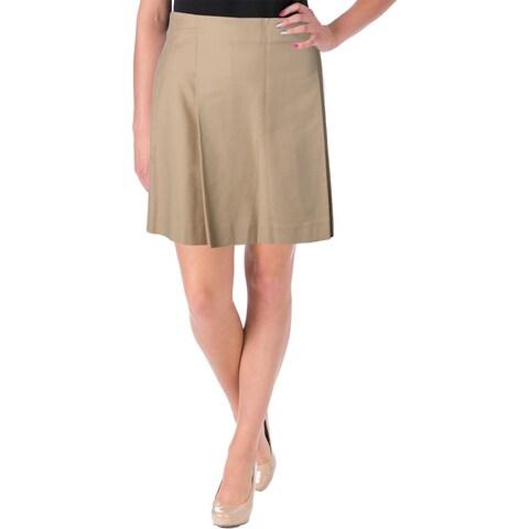 Lauren Ralph Lauren Womens Mini Skirt Pleated Stretch