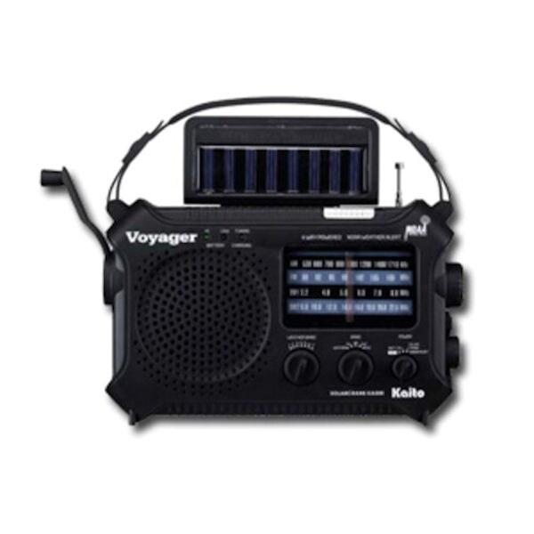 Kaito Solar-Powered Emergency Radio: Black