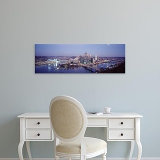 Easy Art Prints Panoramic Images's 'Pittsburgh PA' Premium Canvas Art