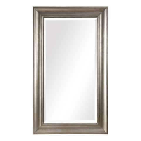 "Uttermost 09546 Palia 72"" x 42"" Rectangular Beveled Pine Framed Full Length Mirror - Warm Silver Leaf"