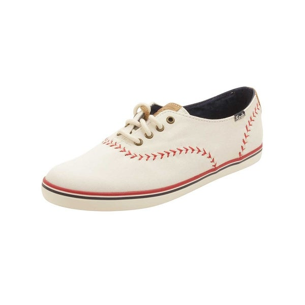 Keds Womens Champion Pennant Sneakers in Off White