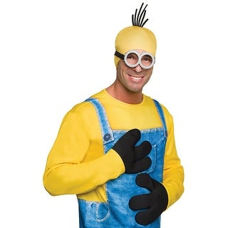Despicable Me Minion Costume Minion Gloves Adult One Size - Black