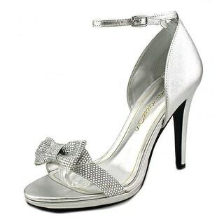 Caparros Zolina Women Open-Toe Synthetic Silver Heels
