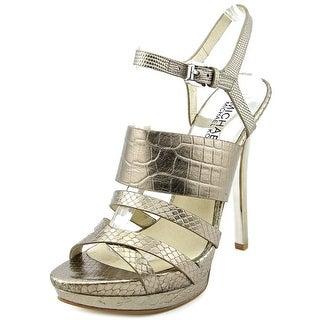 Michael Michael Kors Nadja Platform Open Toe Leather Platform Sandal