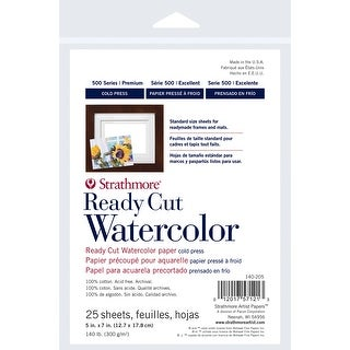 "Strathmore Watercolor Paper Pack 5""X7"""
