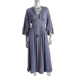 Free People Womens Modern Kimono Printed Lace Up Casual Dress