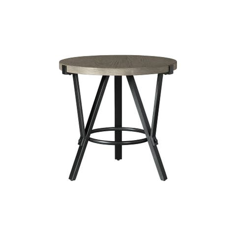 "Zontini Contemporary Light Brown Round End Table - 24""W x 24""D x 24""H"