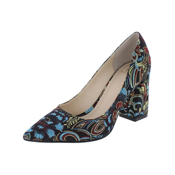 Marc Fisher Womens Jenny 2 Dress Heels Embroidered Floral Print