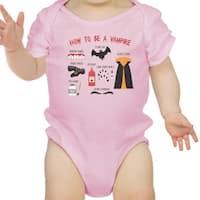 Vampire Steps Halloween Baby Bodysuit Pink Cute Baby Boy Bodysuit