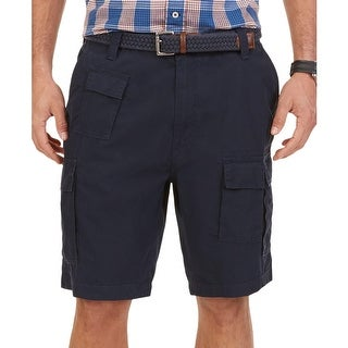 Nautica Mens Big & Tall Cargo Shorts 8 Pocket Flat Front