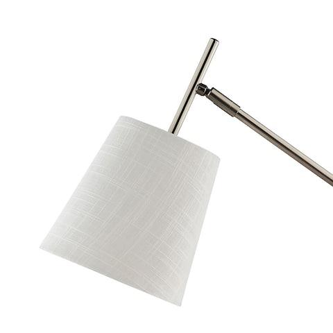 Catalina Lighting Modern Pewter Adjustable Hinged Metal Desk Lamp - Exact Size