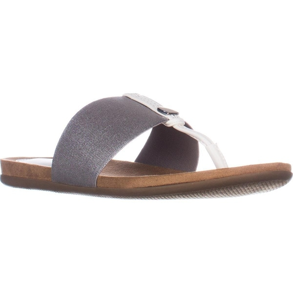 A35 Harr Flat Thong Sandals, Silver