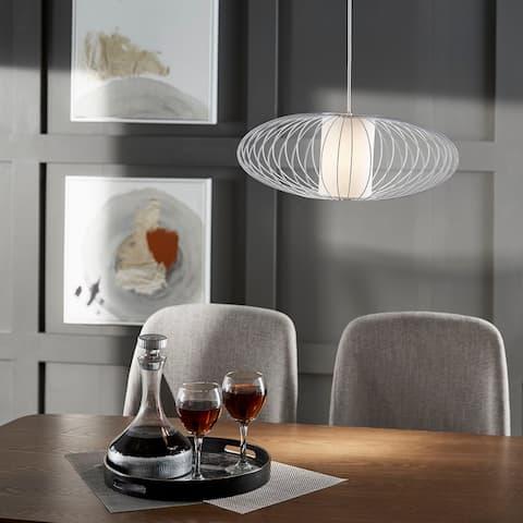 Roger Matte Black Finish Large Pendant Light by iNSPIRE Q Modern