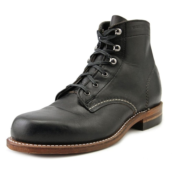 Wolverine 1000 Mile Women Round Toe Leather Black Boot
