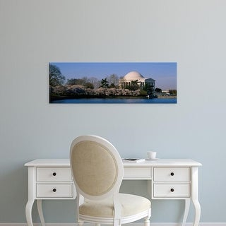 Easy Art Prints Panoramic Images's 'Tourists at a memorial, Jefferson Memorial, Washington DC, USA' Premium Canvas Art