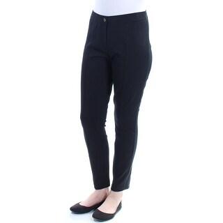 Womens Black Active Wear Skinny Leggings Size 10
