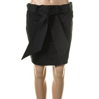 Catherine Malandrino Womens Poplin Above Knee Straight Skirt - 4