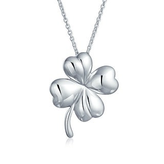 Rhodium-plated 925 Silver Shamrock Clover Pendant with 18 Necklace Jewels Obsession Silver Shamrock