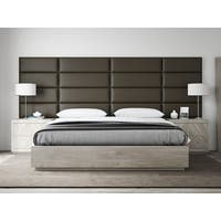 VANT Upholstered Headboards - Accent Wall Panels - Vintage Leather Saddle Brown - 39 Inch Twin-King - Set of 4 panels.