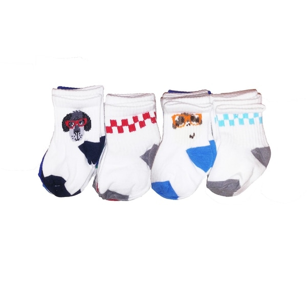 Jumping Beans Toddler Boys 10-Pairs Cotton Full Height Socks - animals multi - 3-12 months