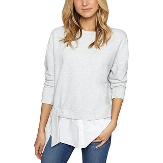 Sanctuary Womens Ally Sweatshirt Layered Heathered