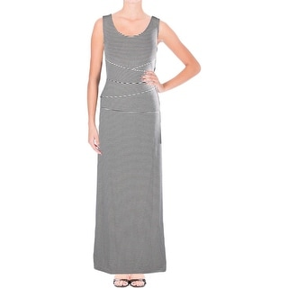 NYDJ Womens Maxi Dress Striped Tiered
