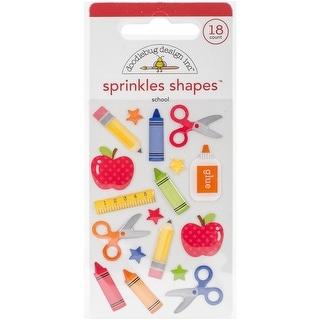 School Sprinkles Glossy Enamel Stickers-School Shapes