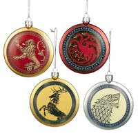 80mm Game OF Thrones Disc Ornament 4/asstd.